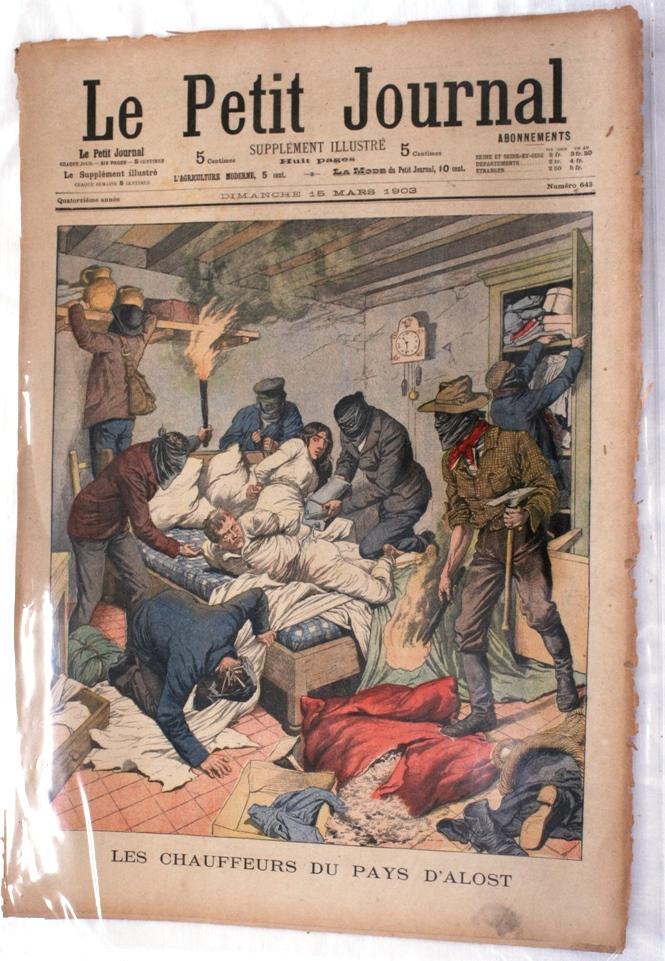 1903 le petit journal violent robbery of a farm near aalst - Le petit journal tokyo ...