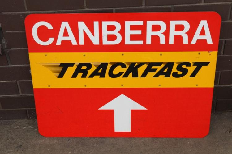 Canberra Trackfast sign
