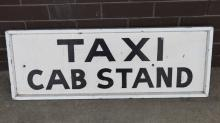Railway Station Taxi Cab Stand sign 1950s