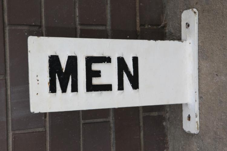 Cast iron Mens sign