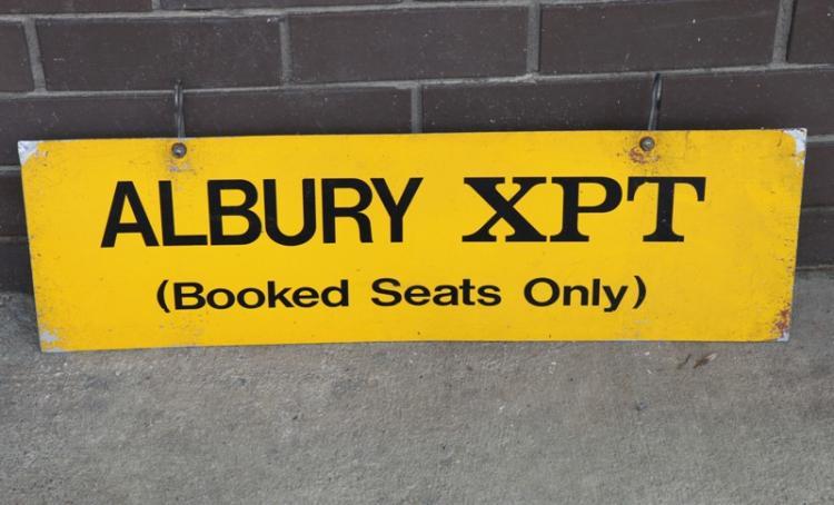Albury XPT sign