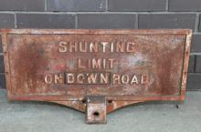 Cast iron Shunting Limit Down- road sign NSW