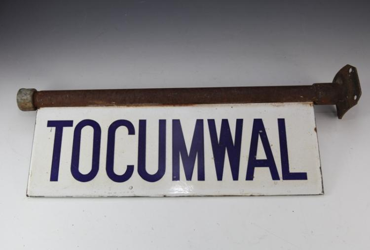 Enamel Tocumwal station sign