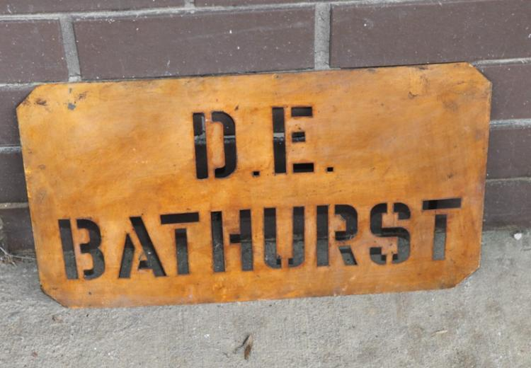 District Engineer Bathurst stencil c1961