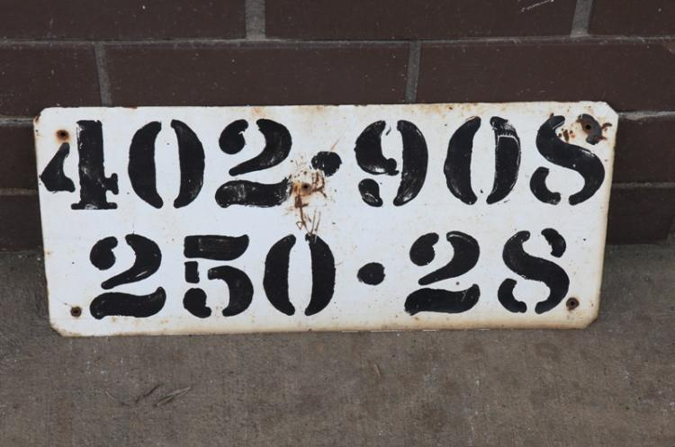 Mileage identification sign NSW
