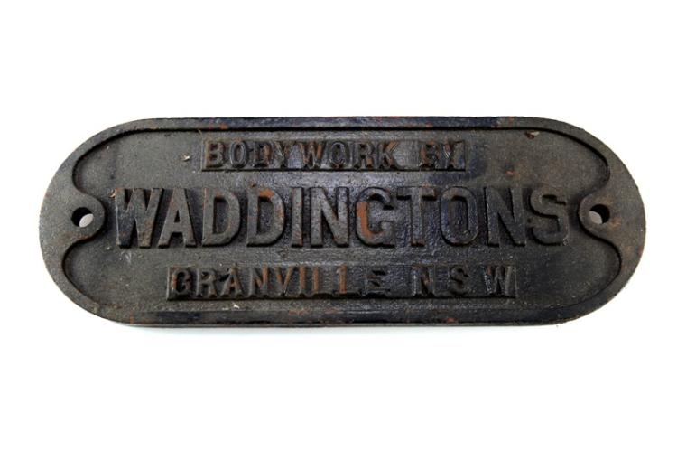 Carriage plate NSW Waddingtons Granville