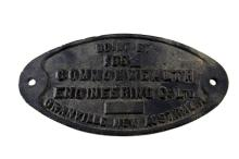 Carriage plate Commonwealth Engineering Granville NSW