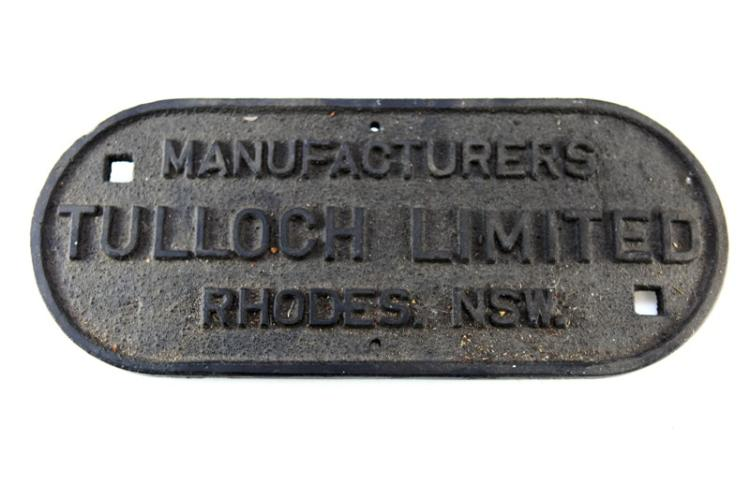 Carriage Plate Tulloch Rhodes NSW