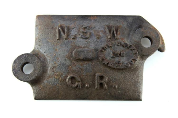 Cast iron Bogie plate - NSWGR