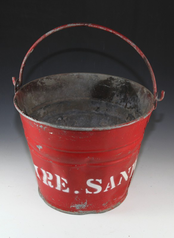Red fire sand bucket