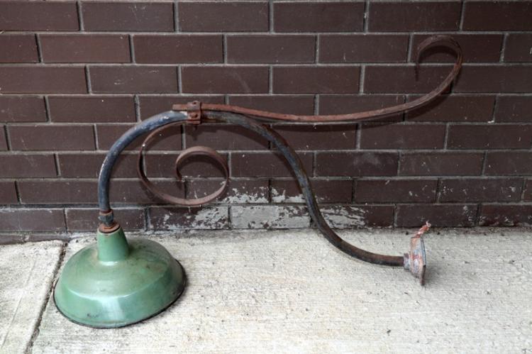 NSWGR goose neck railway station lamp