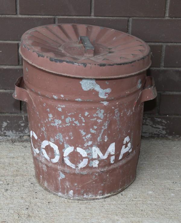 NSWGR embossed Cooma garbage bin