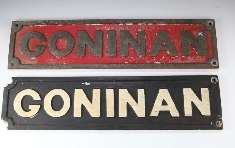 2x NSW Goninan railway builders plates - 1 A/F