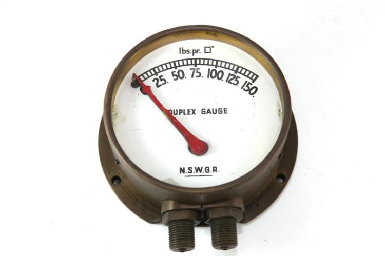 NSWGR duplex brake gauge from steam engine