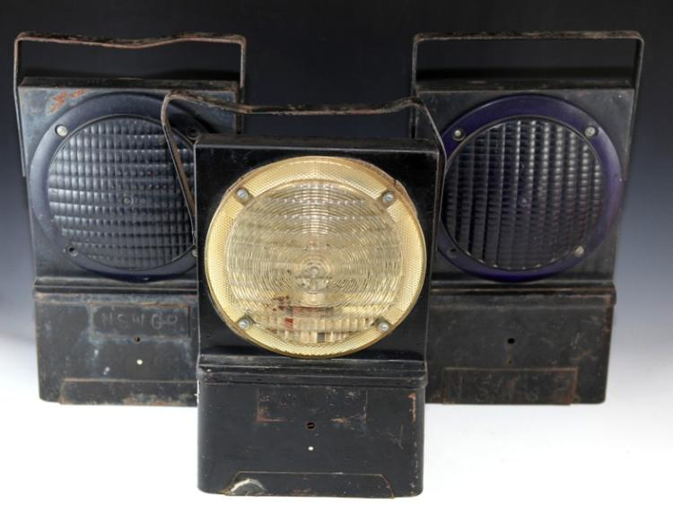3x NSWGR warning lamps battery operated A/F (white tape)
