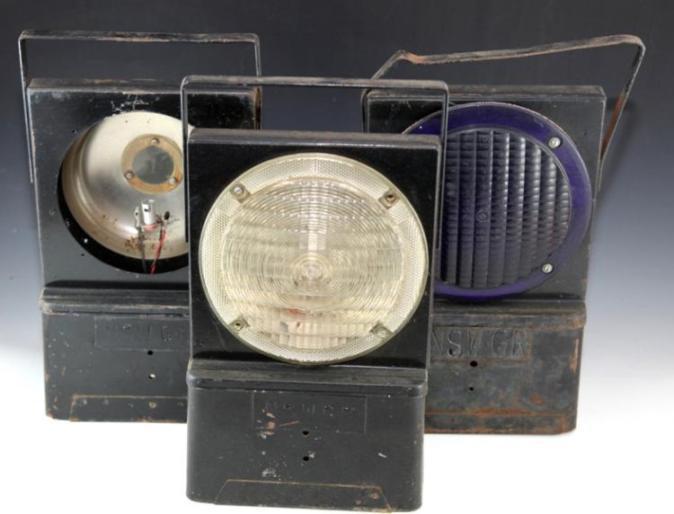 3x NSWGR warning lamps battery operated A/F