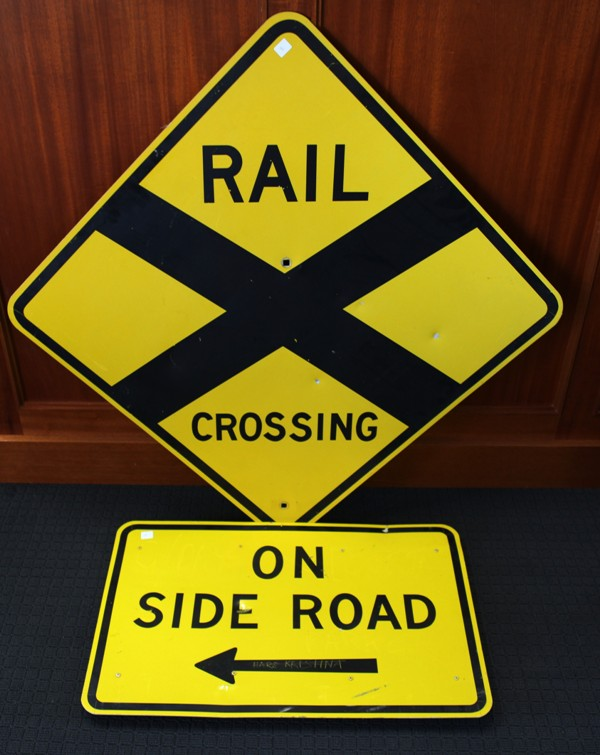 Railway Crossing sign - Side Road sign