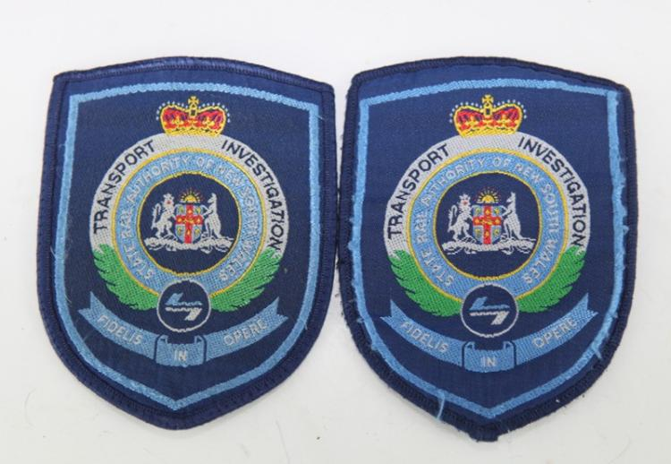 Transport Investigation shoulder patches