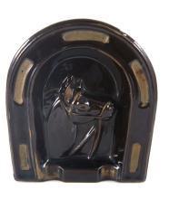 Horse shoe motif ashtray - 11cm long