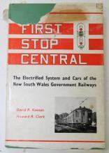 Rare Australian Railway Book - First Stop Central