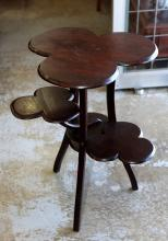 Clover design ceder occasional table with 4 tiers