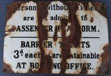 Enamel Persons without ticket sign 3d condition poor