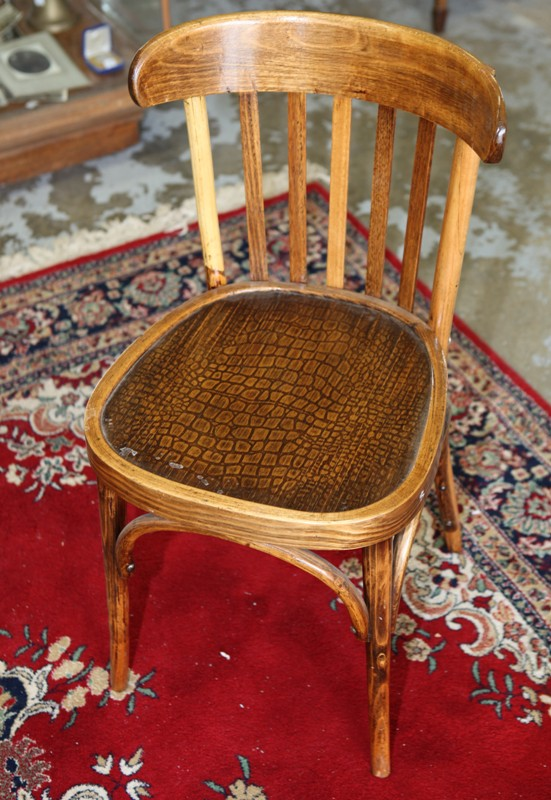 NSWTD wooden railway chair with crocodile skin pattern