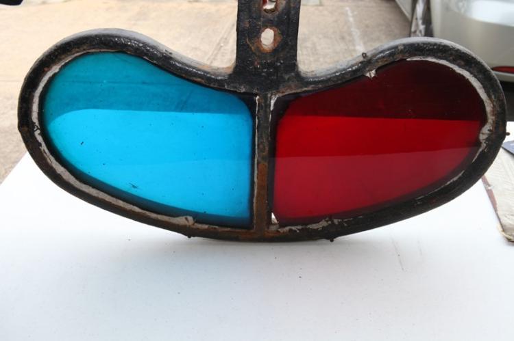 NSWGR coloured glass signal alarm reflector – 1 corner A/F