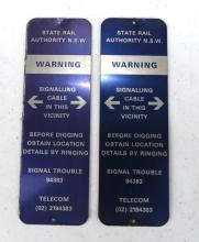 SRA signal cabling warning signs