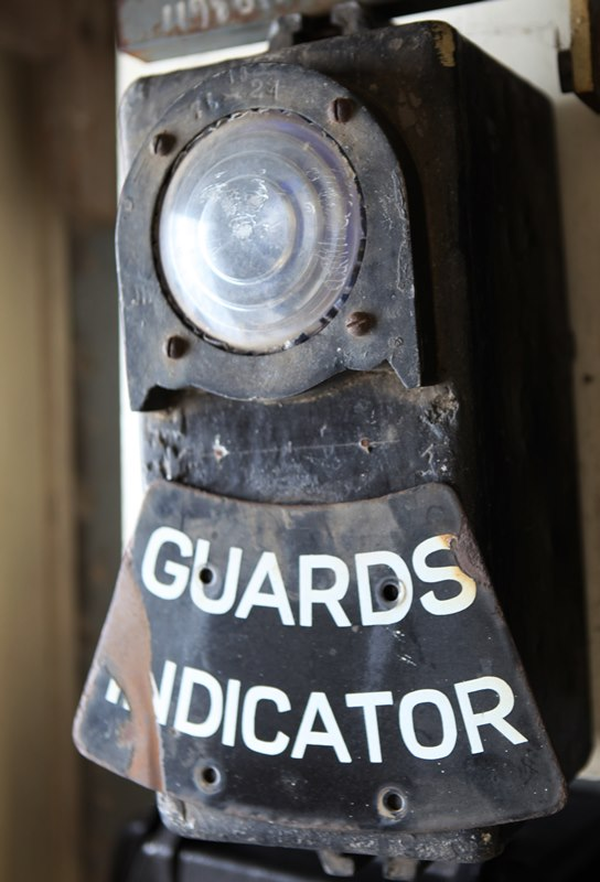 Guards Indicator Light with enamel sign