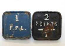 2x FPL cast iron facing point locks