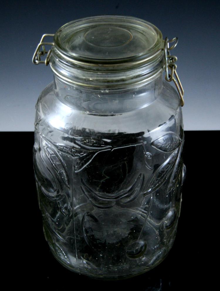 Large glass cherry jar for Designer glass jars