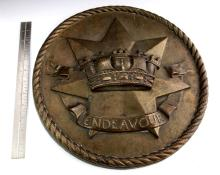 Large Original Brass Ships Plaque - HMAS Endevour