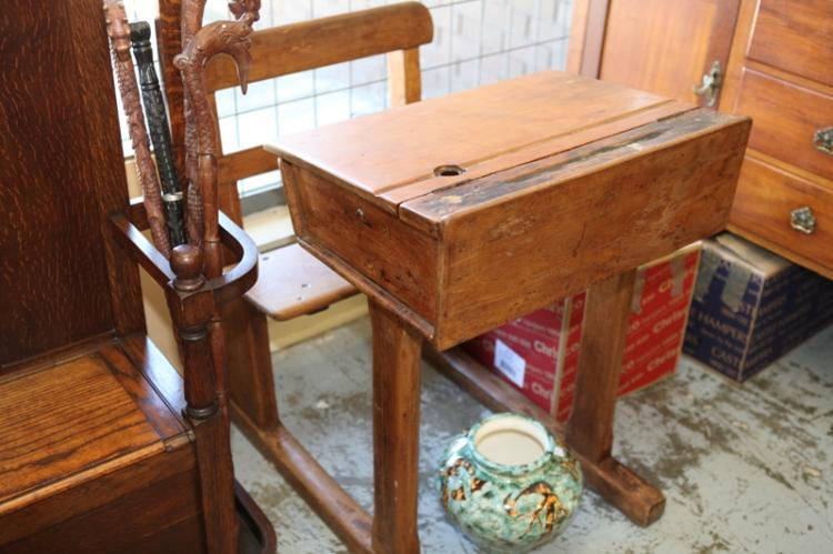 lot 268 vintage wooden student desk and seat