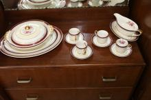Johnson Brothers cups, saucers, plates and gravy boat