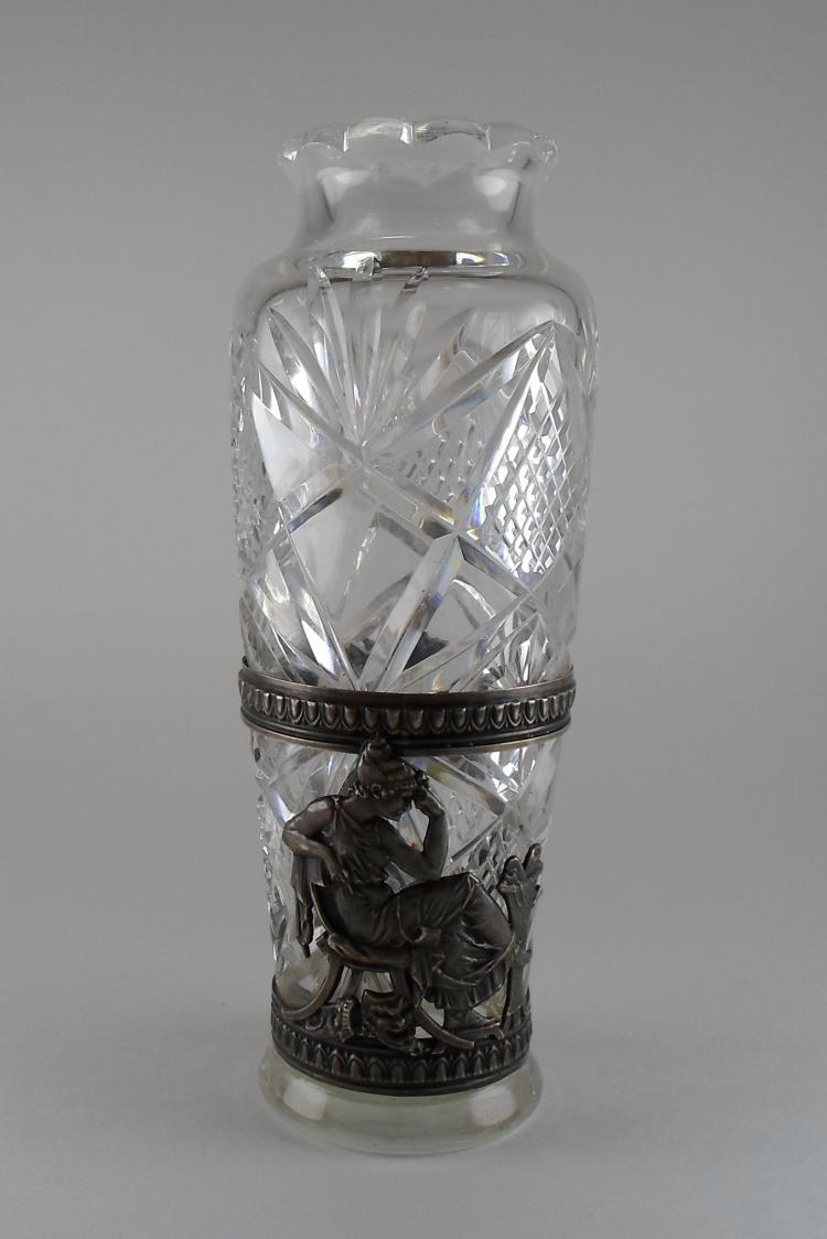 ussr crystal and silver vase. Black Bedroom Furniture Sets. Home Design Ideas