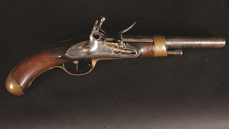 pistolet r glementaire mod le 1786 platine m. Black Bedroom Furniture Sets. Home Design Ideas