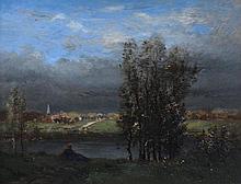 """RENAULT Charles-Edmond (1829-1905) """"L'ARRIVEE"""