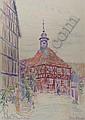 FRITZ BLEYL Zwickau 1880 - 1966 Iburg Fachwerkhaus, Fritz Bleyl, Click for value