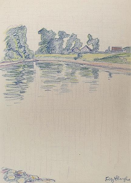FRITZ BLEYL Zwickau 1880 - 1966 Iburg Bäume am