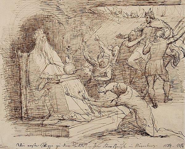 WILHELM VON KAULBACH Arolsen 1804 - 1874 München