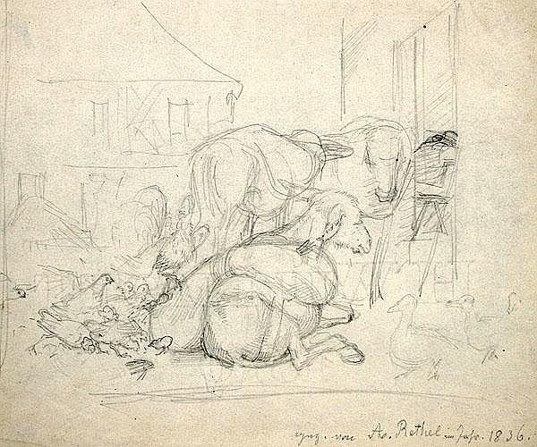 ALFRED RETHEL Haus Diepenbend bei Aachen 1816 -