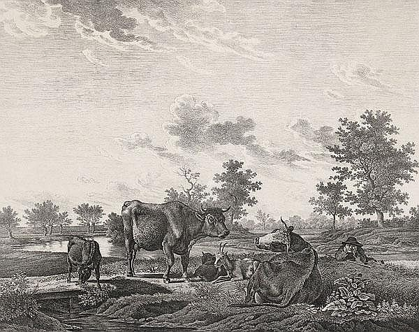 KARL KUNTZ Mannheim 1770 - 1830 Karlsruhe Fünf