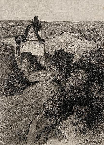 OTTO UBBELOHDE Marburg/Lahn 1867 - 1922 Goßfelden