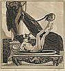 FRANZ VON BAYROS Salome mit dem Haupt des Johannes