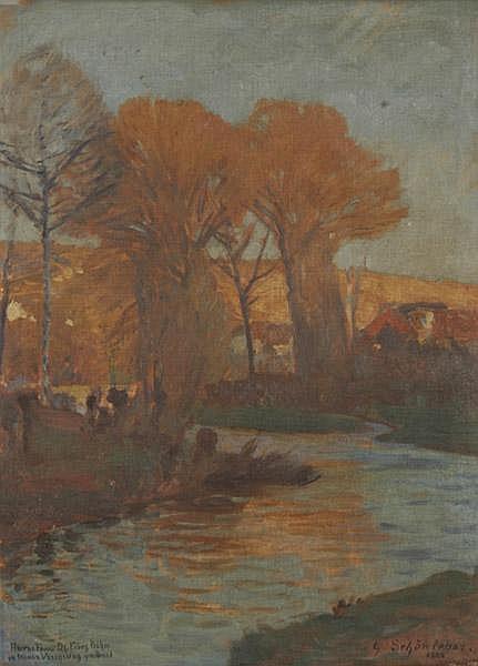 GUSTAV SCHÖNLEBER Bietigheim/Wttbg. 1851 - 1917 Karlsruhe