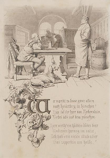 ANTON VON WERNER Frankfurt/Oder 1843 - 1915 Berlin