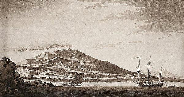 CONRAD HORNY Mainz 1764 - 1807 Weimar Der Vulkan