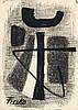 """JÜRGEN VON HÜNDEBERG, Dresden 1922 - 1996 München:   """"Fresko"""" (3) - Abstrakte Komposition., H. O. M. Jürgen"""
