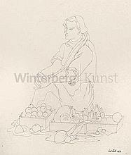CURT LAHS#29;, Düsseldorf 1893 - 1958 Berlin: Sitzende Marktfrau.